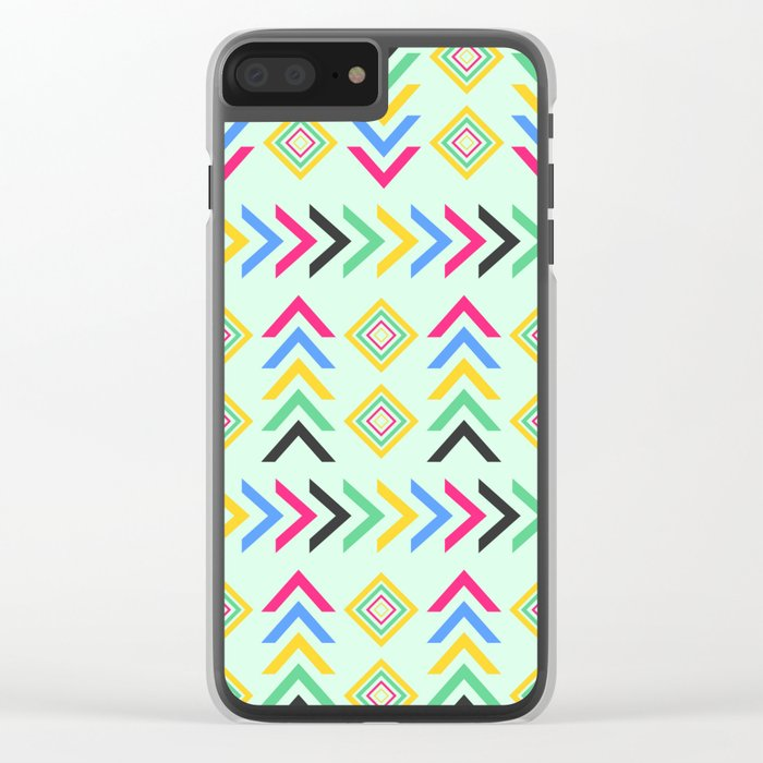 Colorful arrow pattern Clear iPhone Case