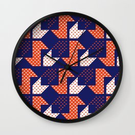 Clover&Nessie Denim/Apple Wall Clock