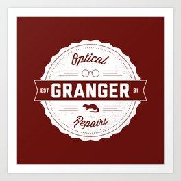 Granger Optical Repair Art Print