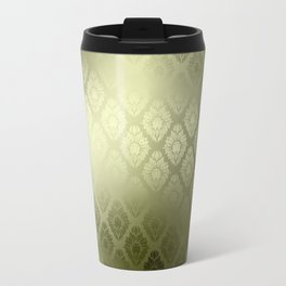 """Olive Damask Pattern"" Travel Mug"