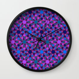 Spanish Director - Al-Nasir Pattern Blue with Red Lines Wall Clock