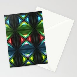 Modern background with light effects of geometric ornament. Stationery Cards