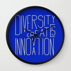 Diversity creates innovation Wall Clock