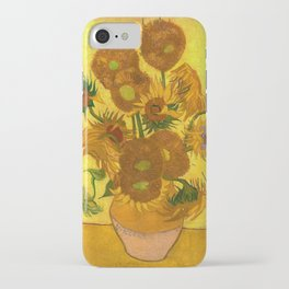 Vincent Van Gogh Fifteen Sunflowers In A Vase iPhone Case