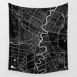 Winnipeg - Minimalist City Map Wall Tapestry
