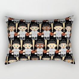 Baseball Black and White - Super cute sports stars Rectangular Pillow