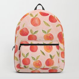 Peaches gouache painting Backpack