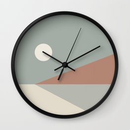 Geometric Landscape 03 Wall Clock