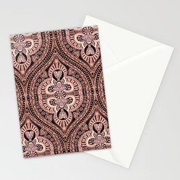 Copper Tribal Lace Ogee Stationery Cards