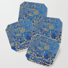 Mexican gold on blue Coaster