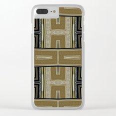 Gold Black Glam ArtDeco X5 Clear iPhone Case