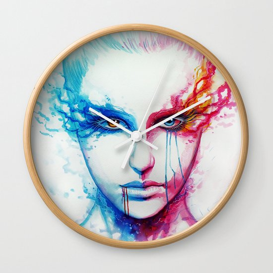 """Bipolarity"" Wall Clock"