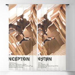 Inception sci-fi Christopher Nolan Movie poster  Blackout Curtain