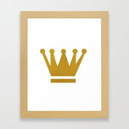 Crown Framed Art Print