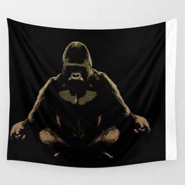 Ape Meditating Wall Tapestry