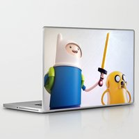 finn and jake Laptop & iPad Skins featuring Heroes: Finn & Jake (Close) by Ben Christie