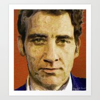 actor Art Prints featuring British Actor by Miguel A. Martin