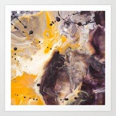 Color Commentary #16: Purple/Maroon & Golden Yellow [Herman de Waal] Art Print
