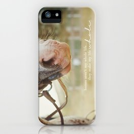 horses make me whole iPhone Case