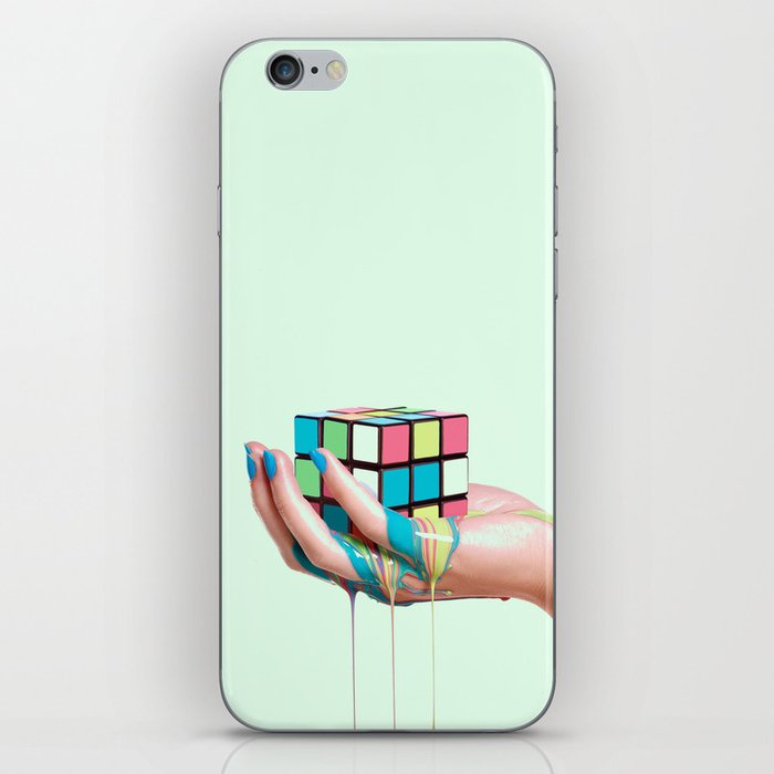 MELTING RUBIKS CUBE iPhone Skin