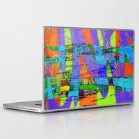 stockholm Laptop & iPad Skins featuring stockholm graffic by David Mark Lane