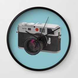 Leica M9 Camera polygon art Wall Clock