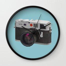 Leica M9 Camera polygon art Wall Clock