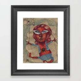 SPIDEY'S COBWEBS Framed Art Print
