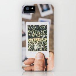 Holding photo prints iPhone Case
