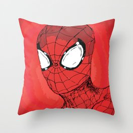 Responsibility - Spidey Throw Pillow