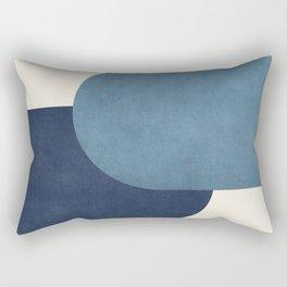Halfmoon Colorblock - Blue Rectangular Pillow