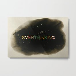 drowning in thoughts - Metal Print