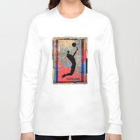 volleyball Long Sleeve T-shirts featuring Volleyball Girl by beeczarcardsandgifts