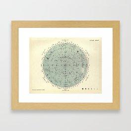 Experiment 02: Star Map Framed Art Print