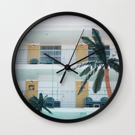 Retro Motel in Wildwood, New Jersey Wall Clock