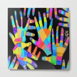 Hands of colors   Hands of light Metal Print