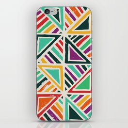 Quilt abstract art iPhone Skin