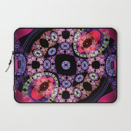 Dance in pink and purple, abstract pattern design Laptop Sleeve
