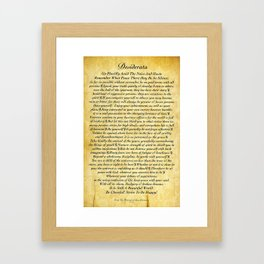 Desiderata on Embossed Wood  Framed Art Print