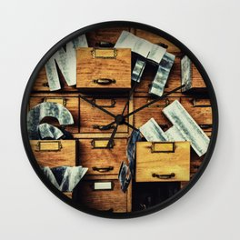 Filing System Wall Clock