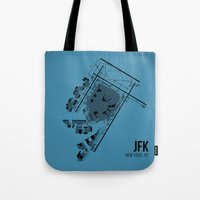 jfk Tote Bags featuring JFK by 08 Left