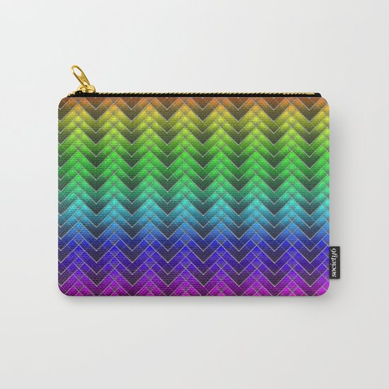 Zigzag pattern rainbow colors Carry-All Pouch