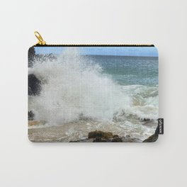 Hawaii Secret Beach Cove With Crashing Rogue Waves Carry-All Pouch