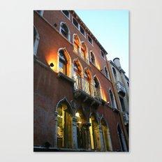 Lit Venice Residence Canvas Print