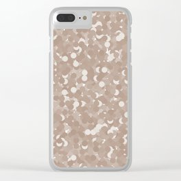 Warm Taupe Polka Dot Bubbles Clear iPhone Case