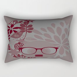 Afro Diva : Burgundy Sophisticated Lady  Rectangular Pillow