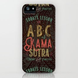 Kama Sutra Lessons iPhone Case