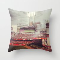 cincinnati Throw Pillows featuring Cincinnati Reds by  Rikki