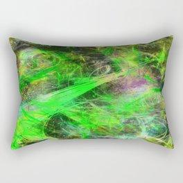 Neon Galaxy - Abstract Rectangular Pillow