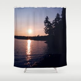 Sunset at Moss Lake Shower Curtain